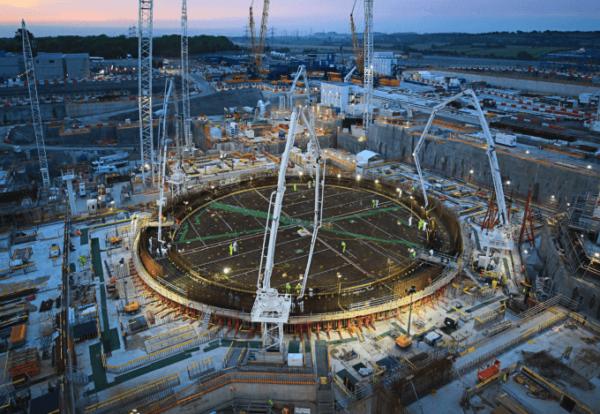 Construction's largest concrete pour complete at Hinkley